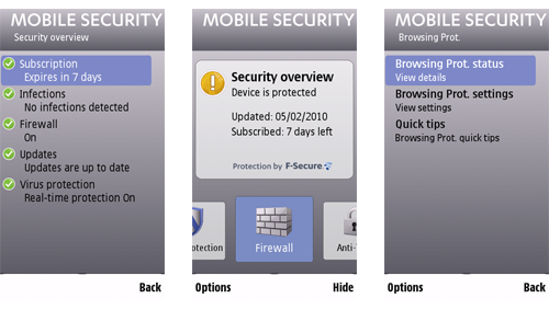 Mobile Security Screenshots